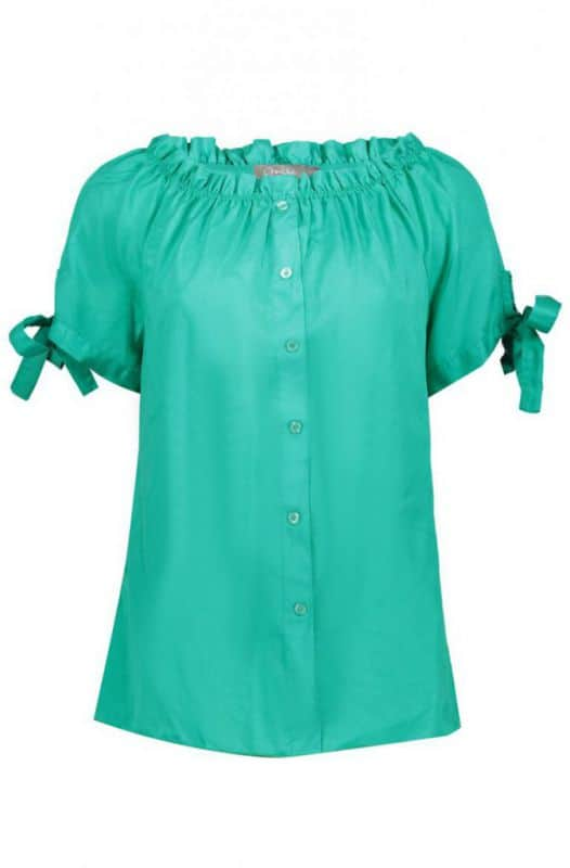 Geisha Top Off Shoulder Emerald