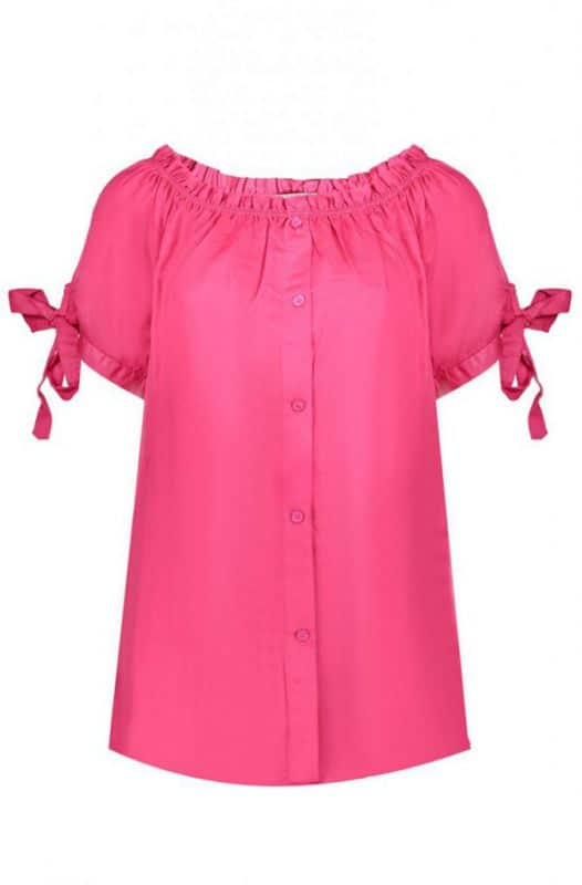 Geisha Top Off Shoulder Roze