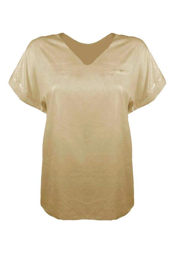 Triple Nine T-shirt V-hals Zand