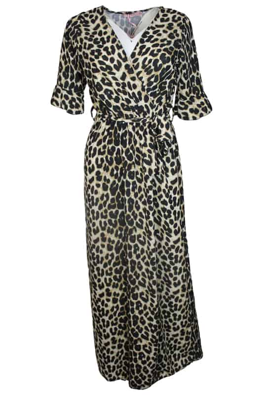 Sophia Leopard Maxi Dress