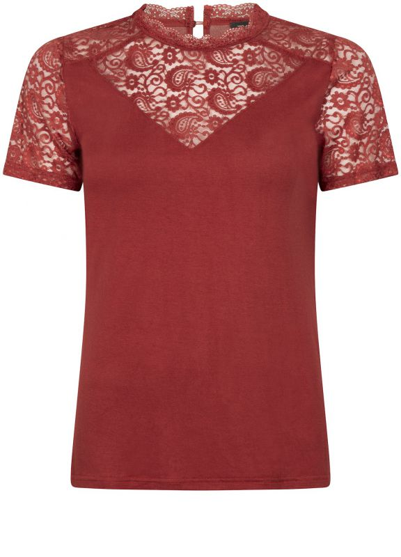 Tramontana Top Paisley Lace Mix Rood