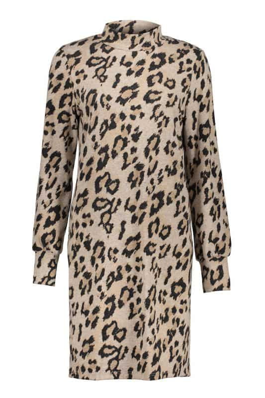 Geisha Dress Soft AOP Leopard & Turtle