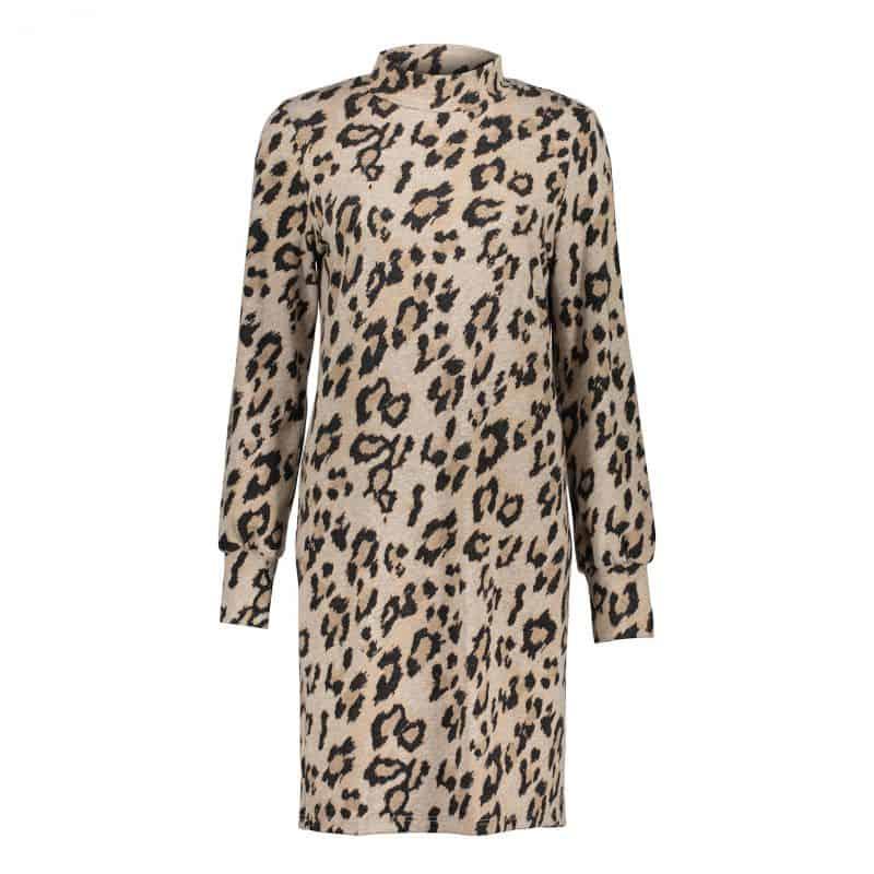 Geisha Dress Soft AOP Leopard & Turtle