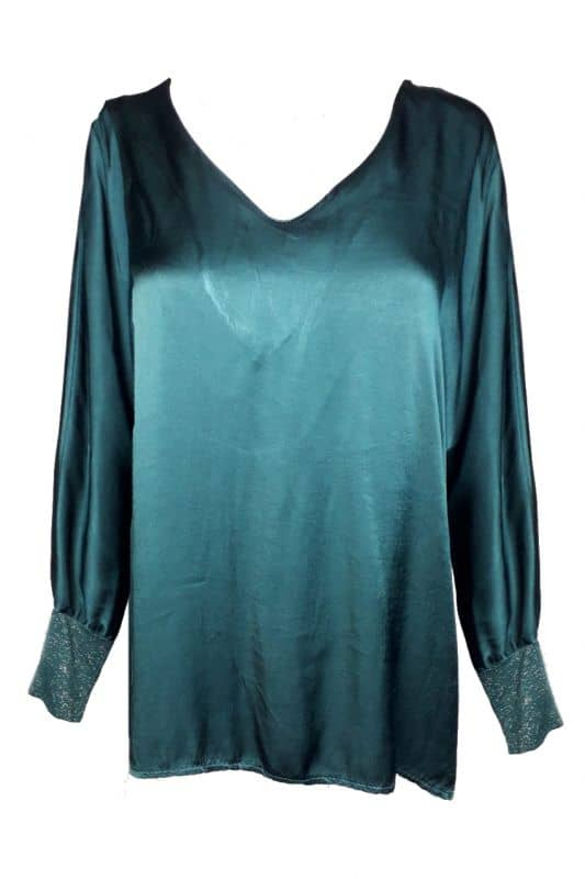Blouse Lurex Petrol
