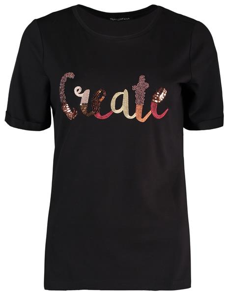 Tramontana T-shirt Create Zwart