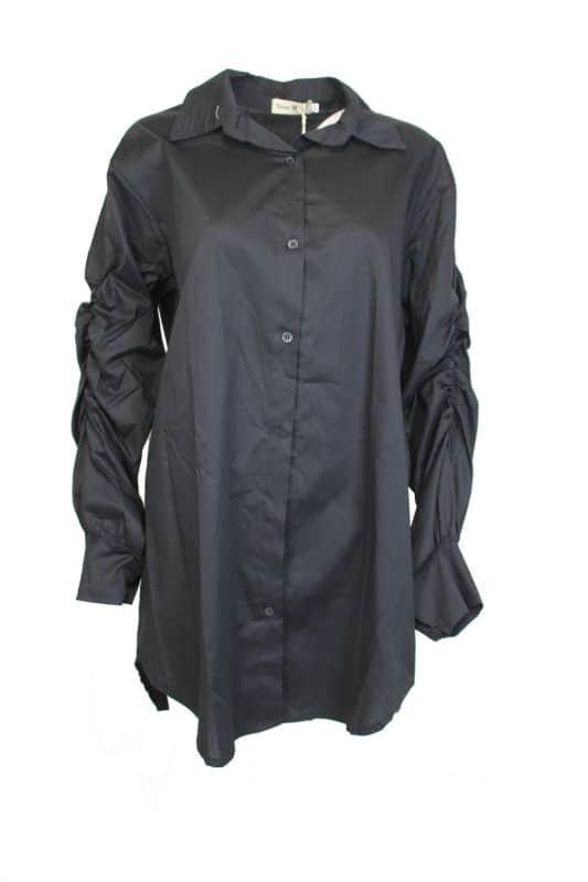 Sensi Wear Ruffle Blouse Zwart