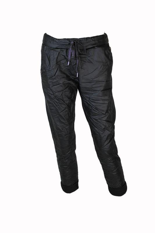 Comfy Pants Coated Zwart – One size, Zwart