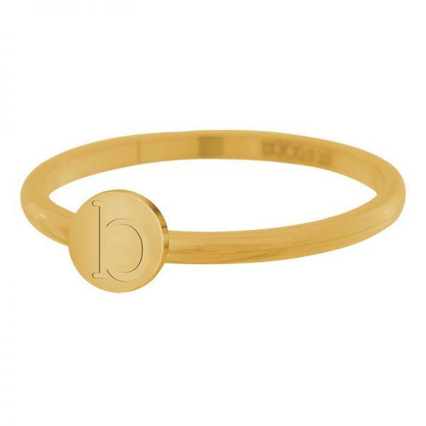 iXXXi Jewelry Ring Alfabet B goud 2mm