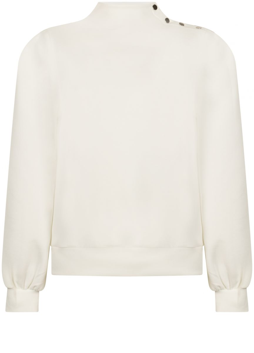 Tramontana Sweater Soft Buttons Cream