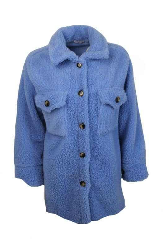 Ambika Teddycoat Blauw