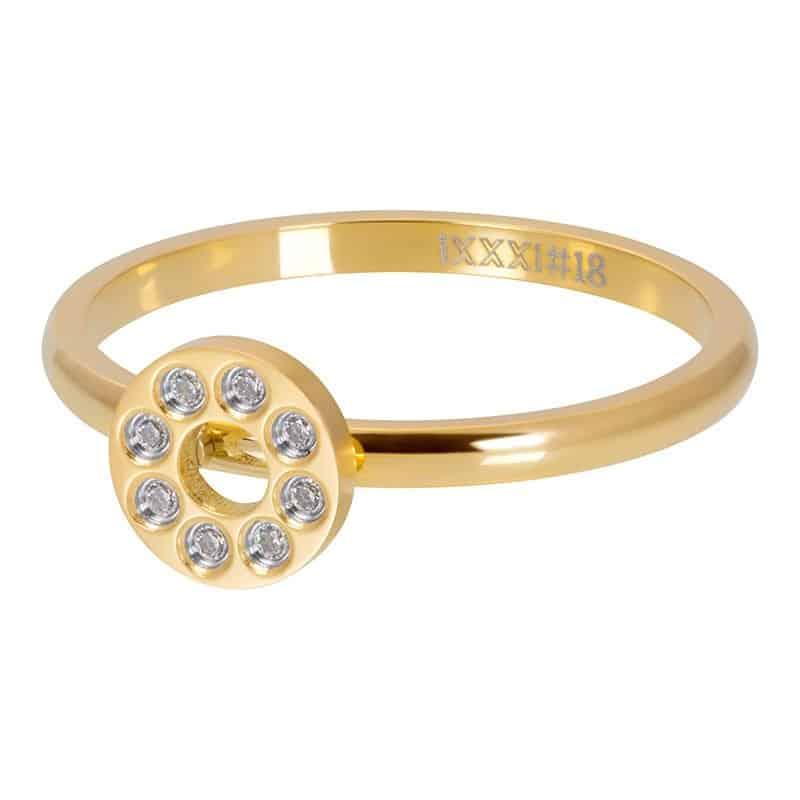 iXXXi Jewelry Vulring Flat Circles Crystal Stone 2mm
