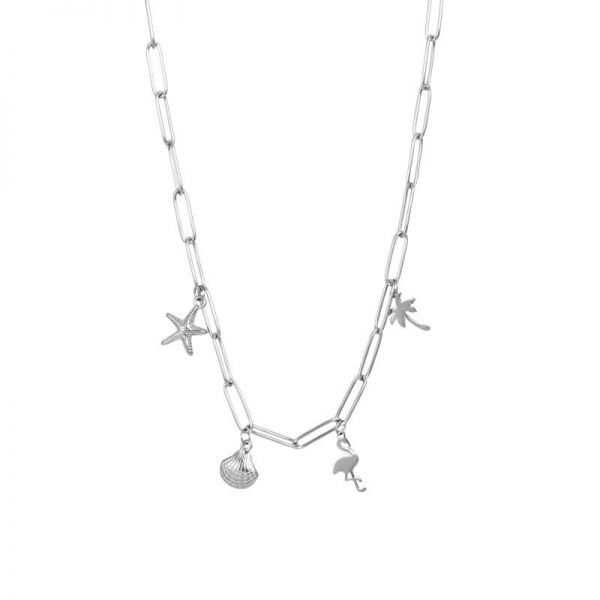 iXXXi Jewelry Necklace With Charms Zilver