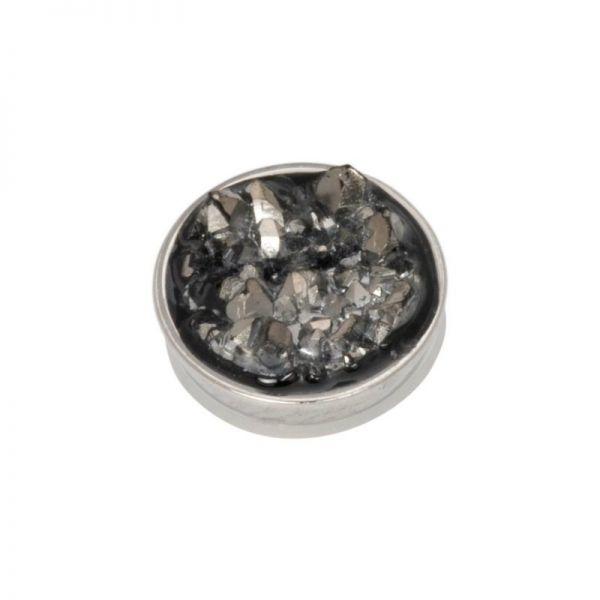 iXXXi Jewelry Top Part Drusy Dark Grey Zilver