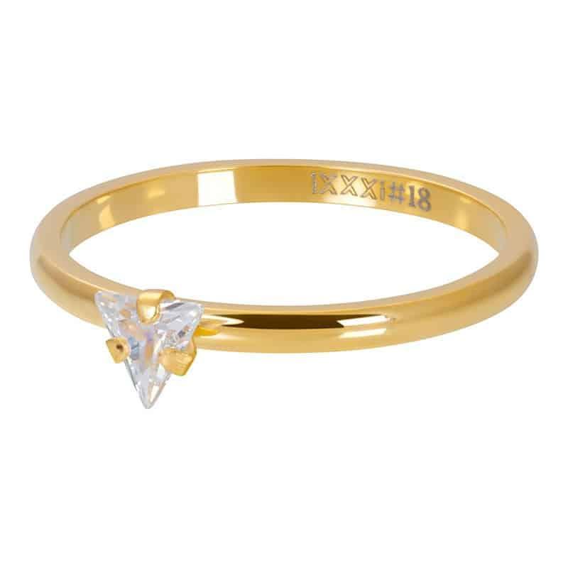 iXXXi Jewelry Vulring Triangle Crystal Stone 2mm