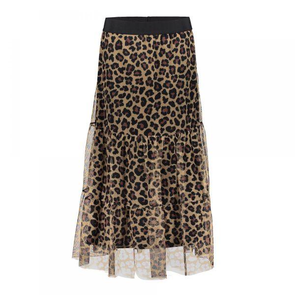 Geisha Skirt Leopard Mesh