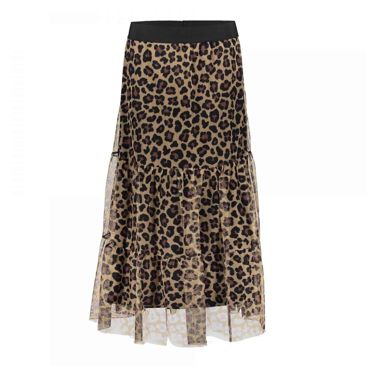 Geisha Skirt Leopard Mesh – S