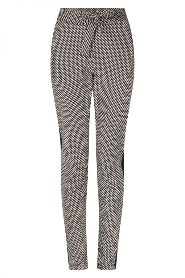 Zoso Printed Travel Pant With Piping 211 Isabel