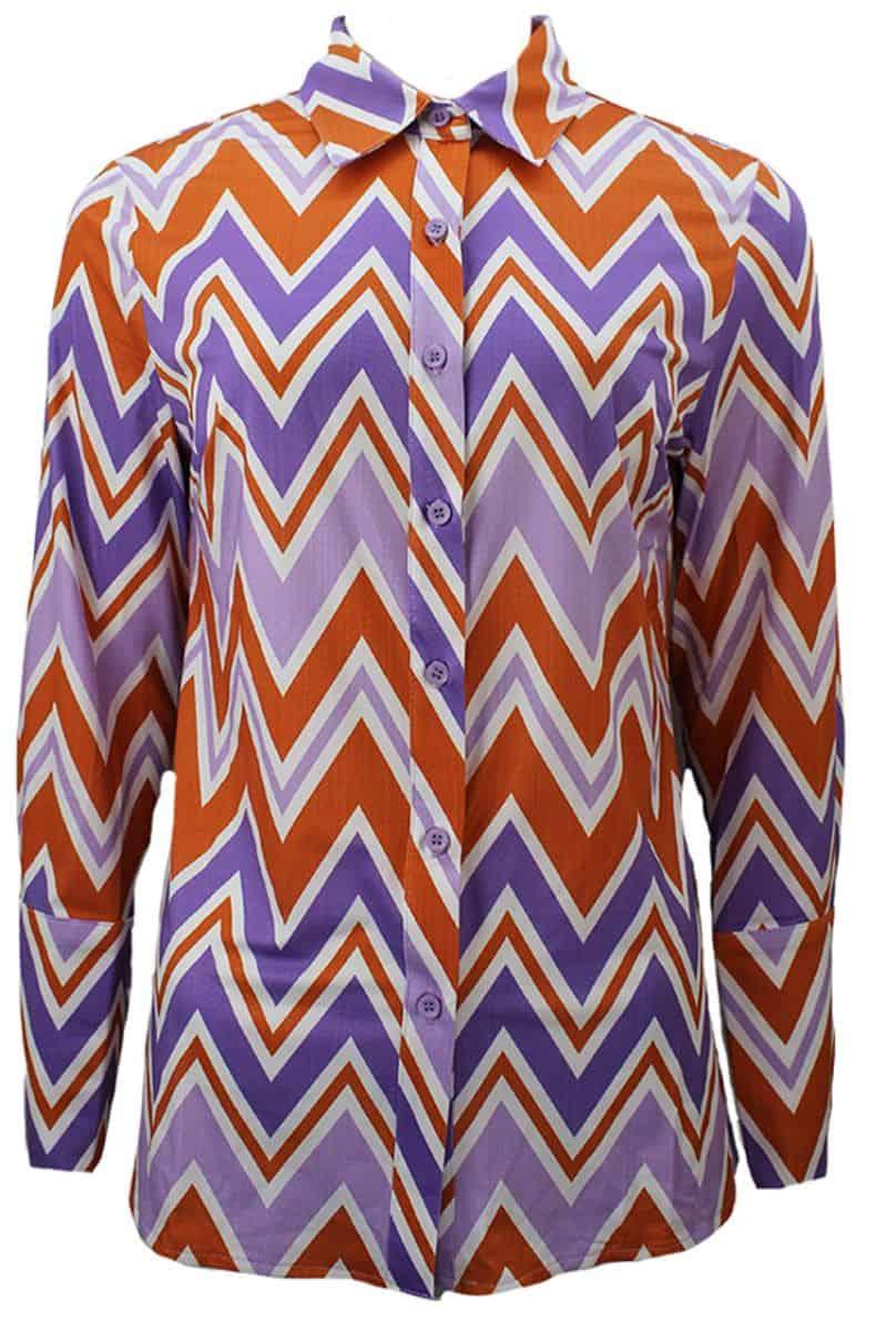 Blouse Zigzag Purple