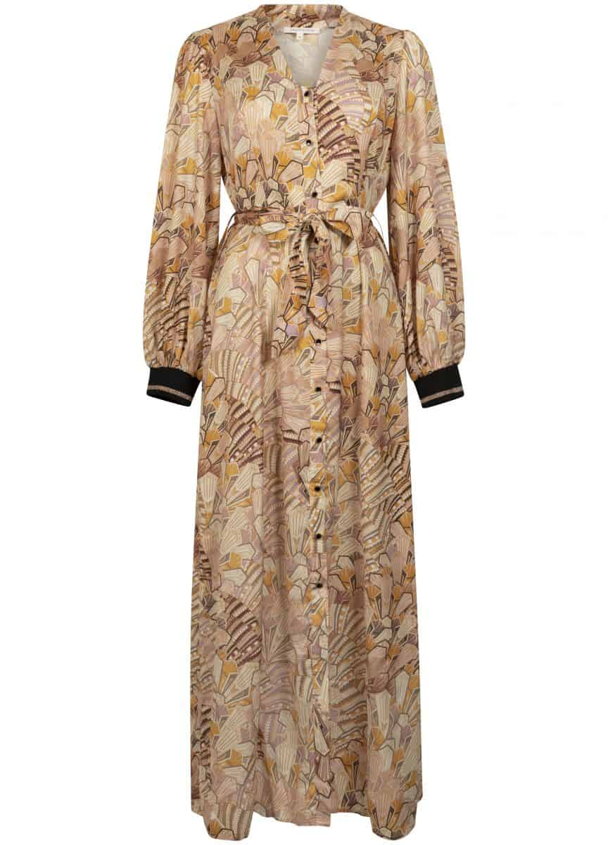 Tramontana Dress Maxi Art Deco Print