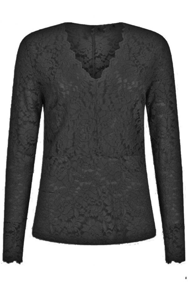 Tramontana Top Lace Black