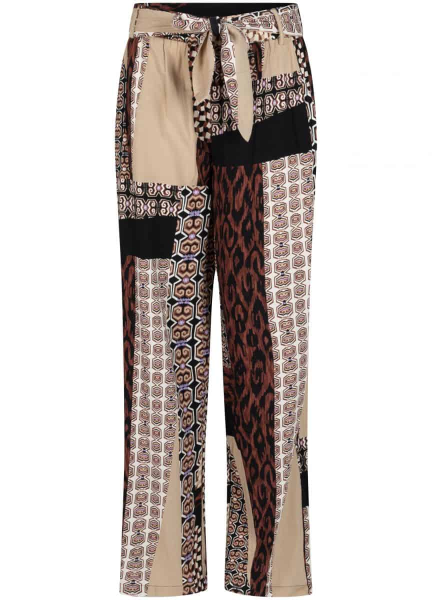 Tramontana Trousers Wide Leg Mixed Graphic Print