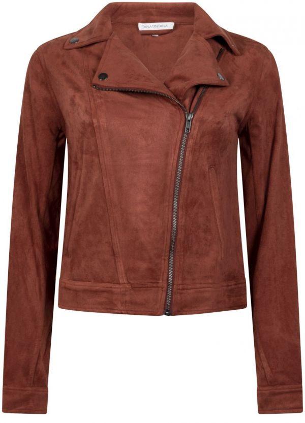 Tramontana Jacket Biker Suedine Cognac