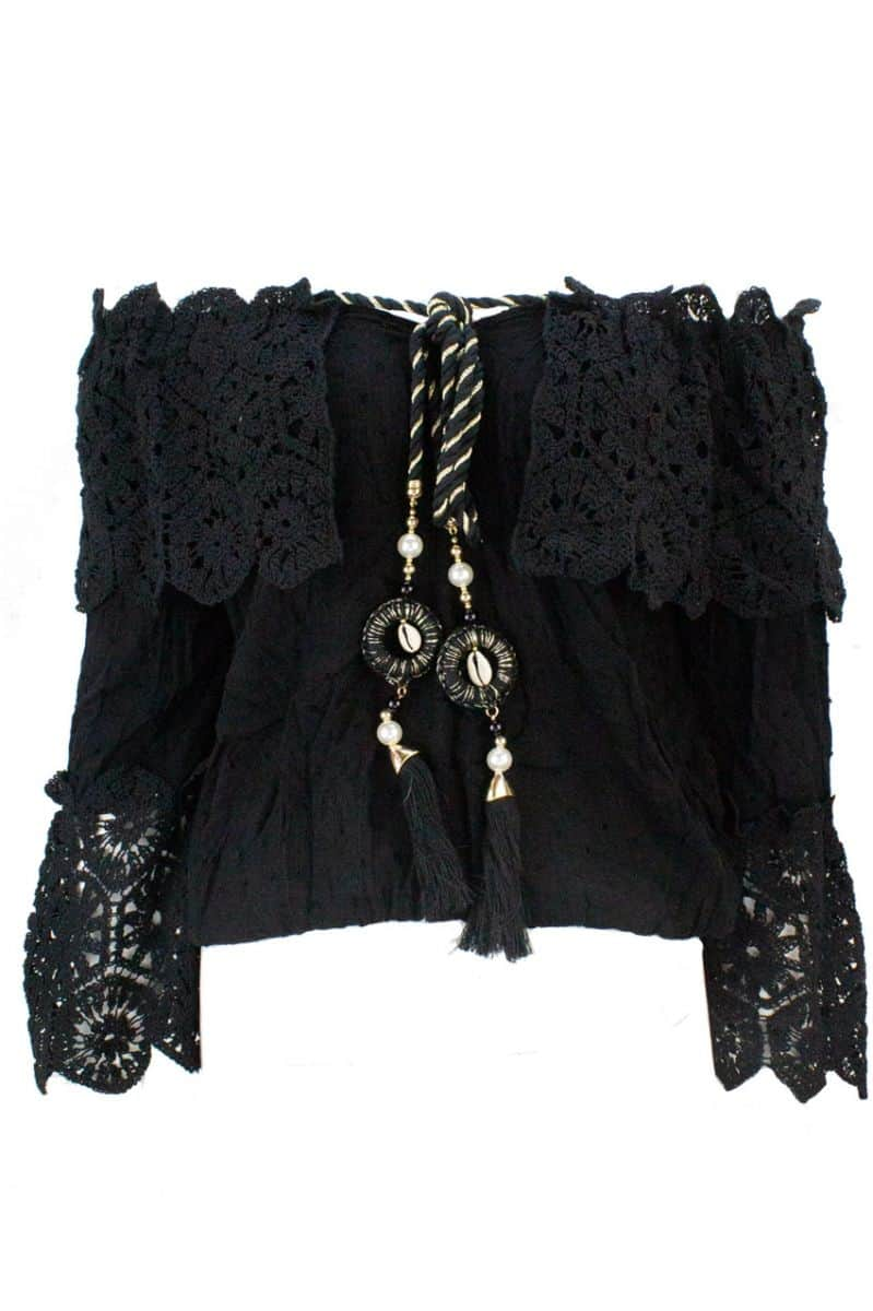 Off-shoulder Blouse Ibiza Black