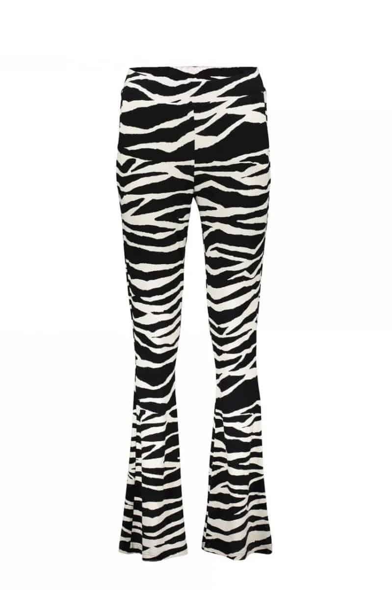Geisha Pants AOP Zebra