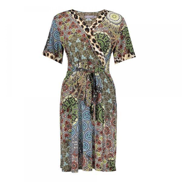 Geisha Dress Patchwork&Leopard Print