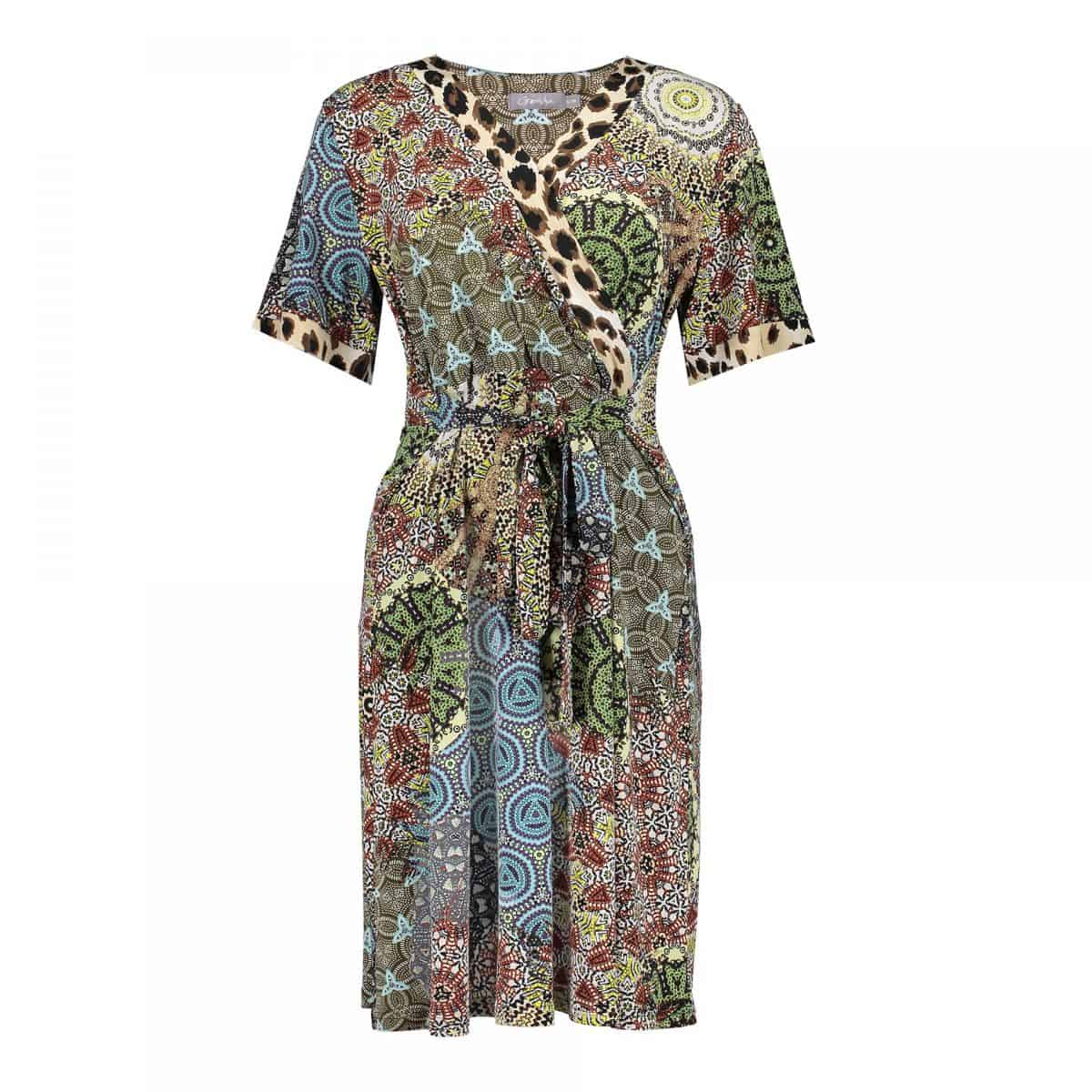 Geisha Dress Patchwork&Leopard Print