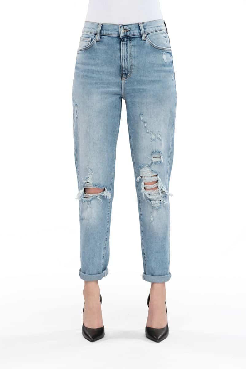 COJ Light Blue Destroyed Mom Jeans Lynn