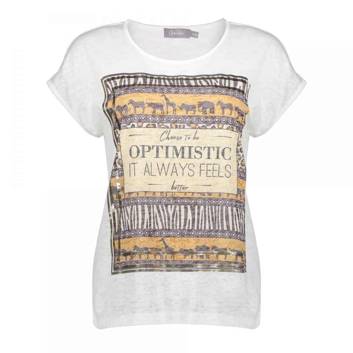 "Geisha T-shirt Animal Print ""Optimistic"""