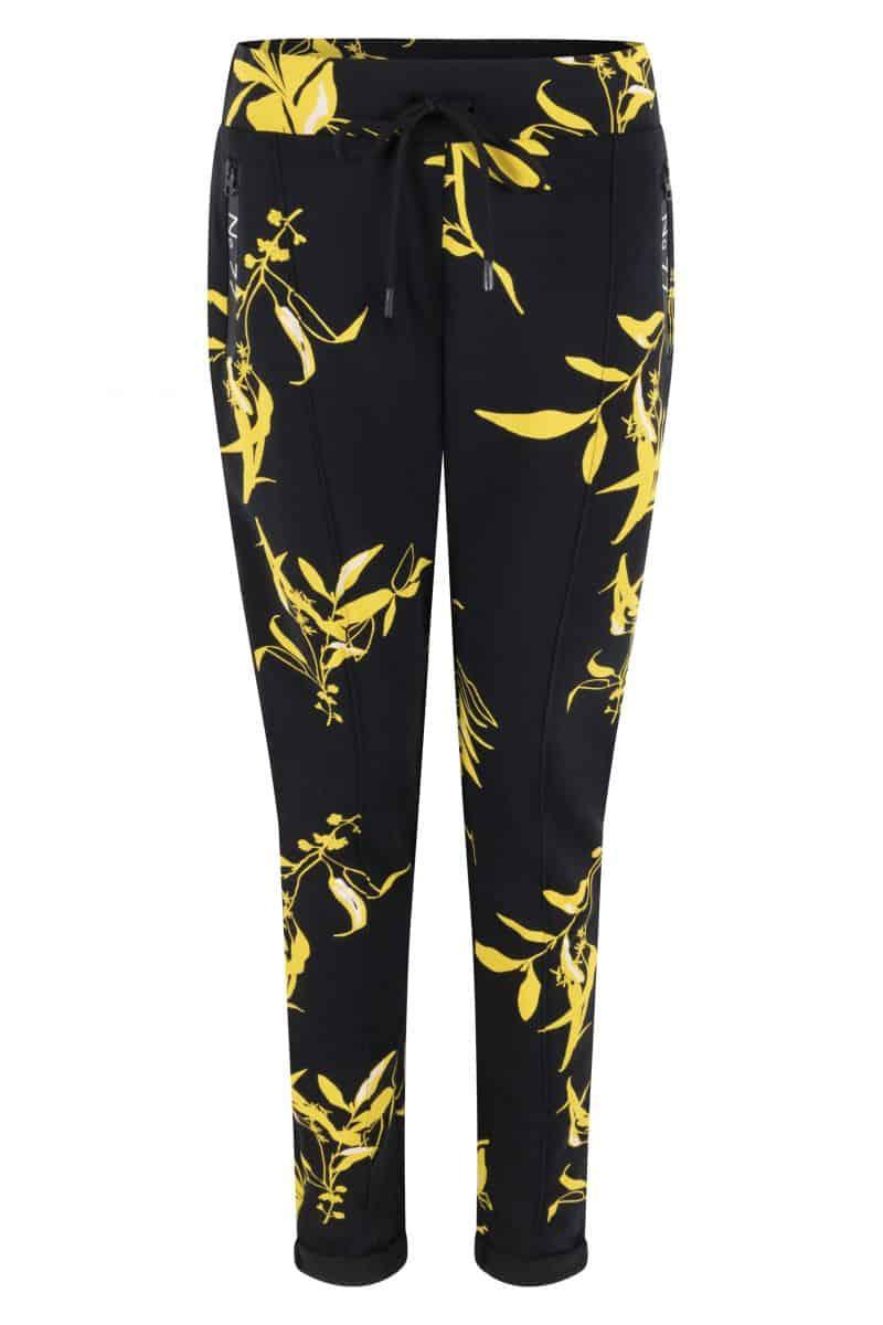 Zoso Sweat Trouser 213 Jane Allover Print Navy/Yellow