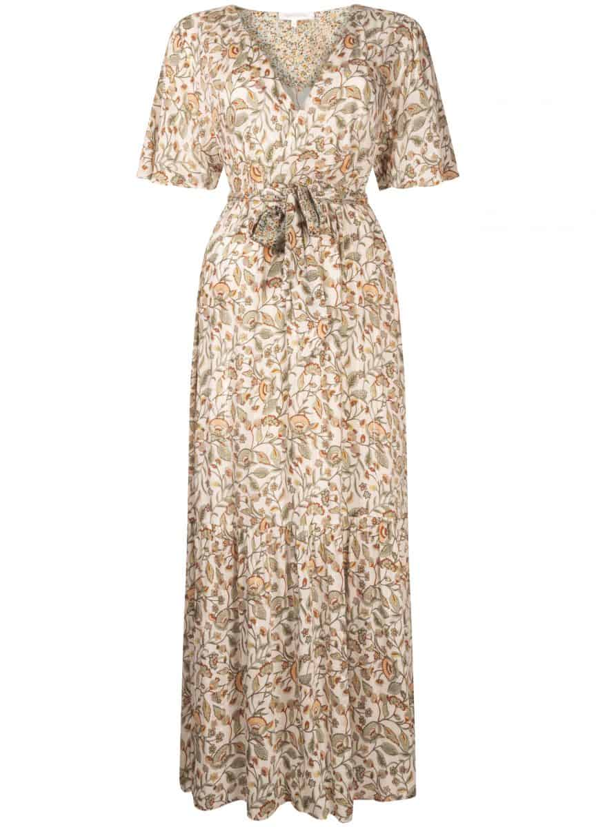 Tramontana Maxi Dress Flower Print Mix