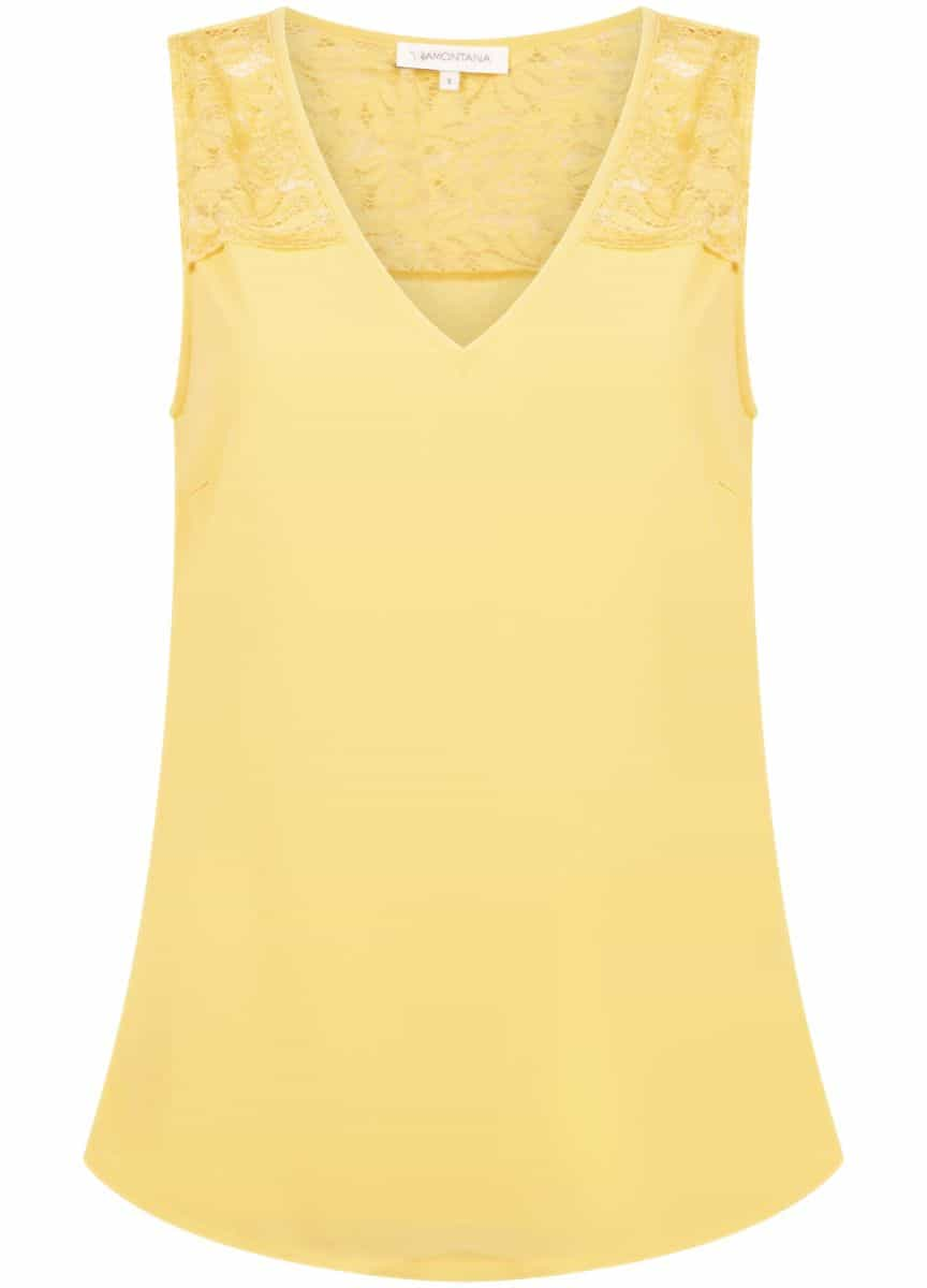 Tramontana Top Chiffon Lace Mix Yellow