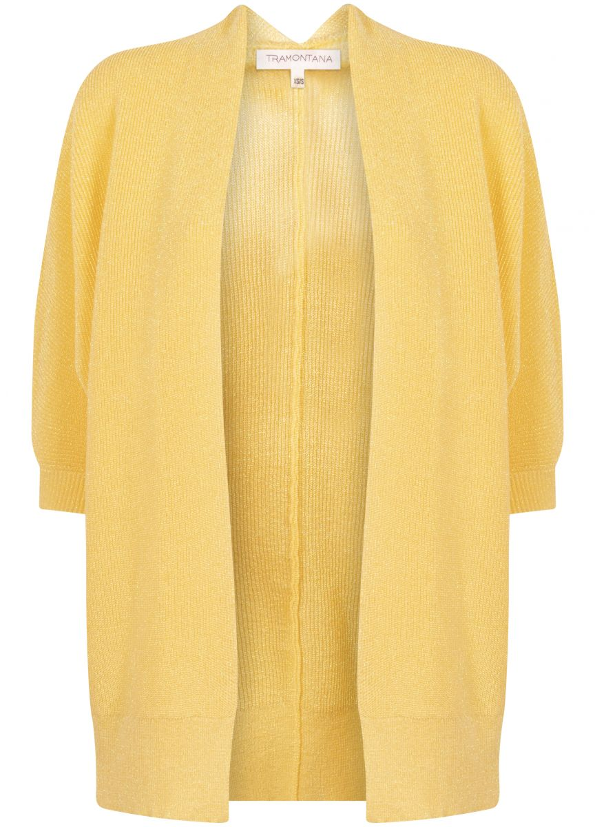 Tramontana Cardigan Yellow Lurex