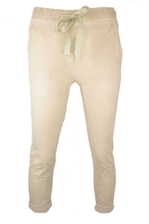 Triple Nine Comfy Broek Beige