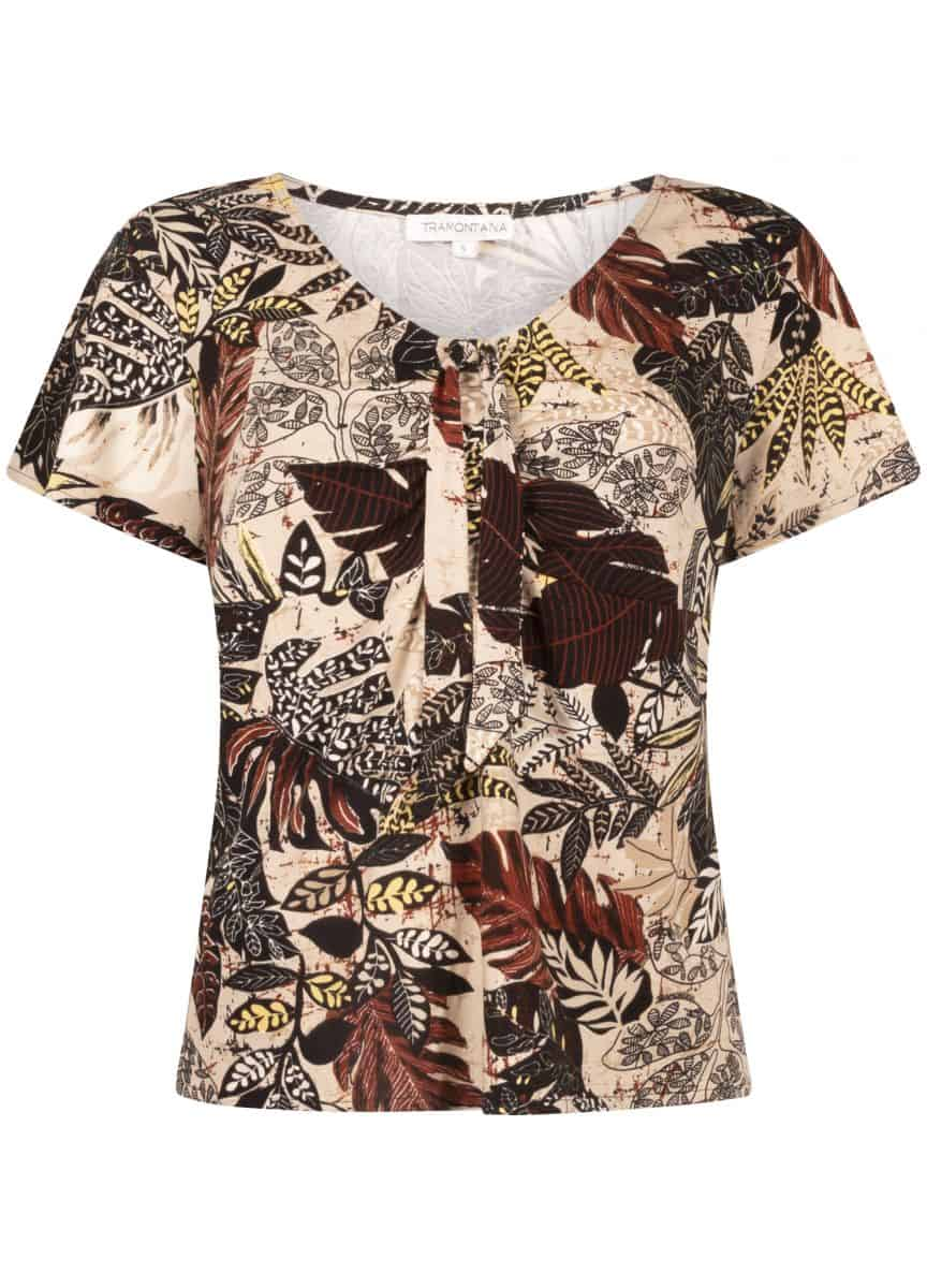 Tramontana Top Etnic Leaves Print