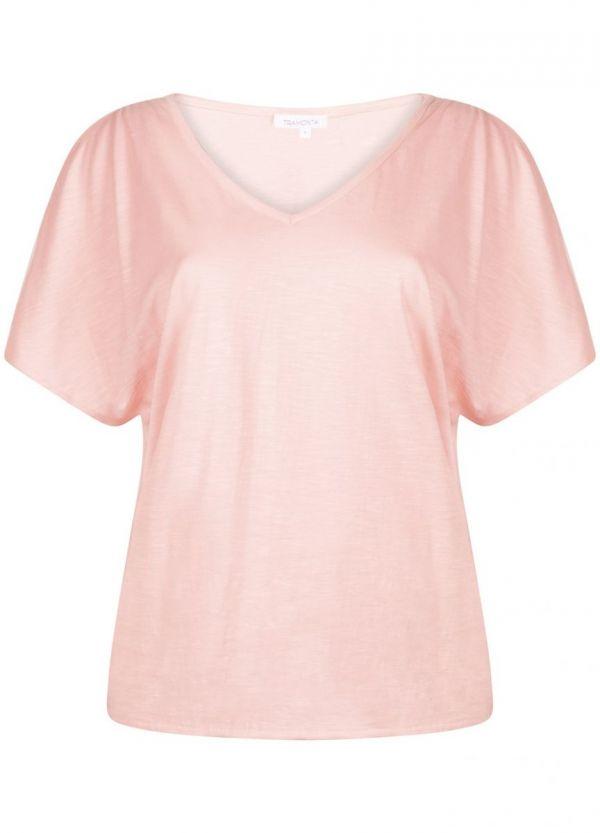 Tramontana T-Shirt Cold Shoulder Pink
