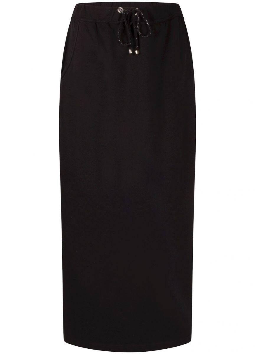 Tramontana Skirt Maxi Sweat Black