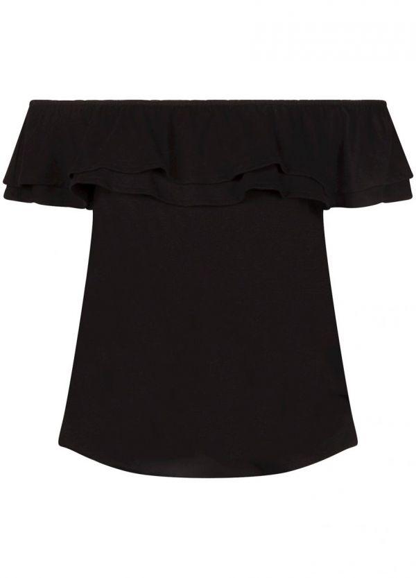 Tramontana Top Off Shoulder Black