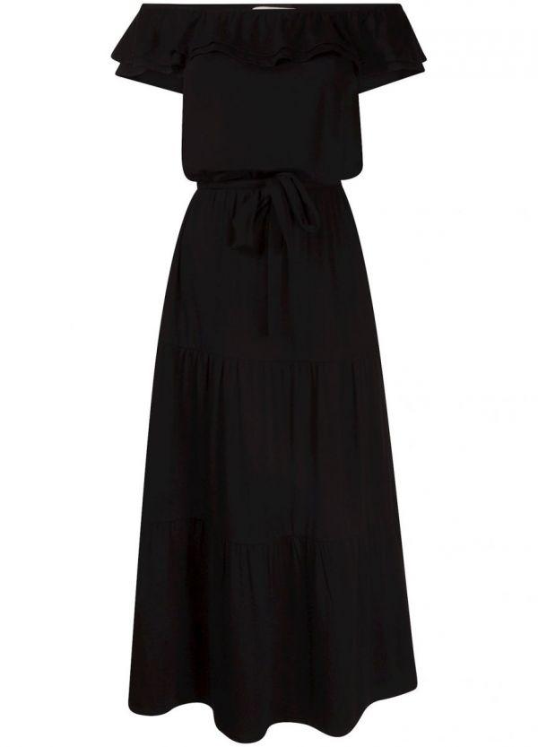 Tramontana Dress Off Shoulder Black