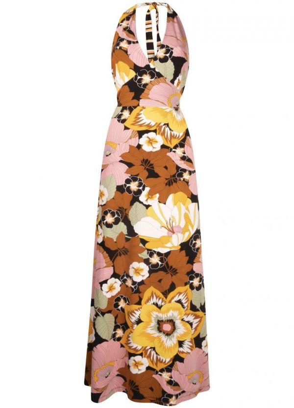 Tramontana Dress Halter Blooming Print