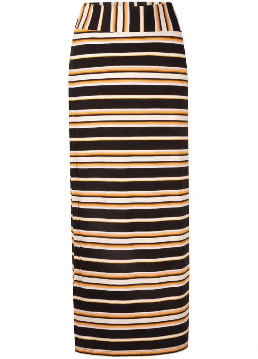 Tramontana Skirt Maxi Dark Summer Stripes