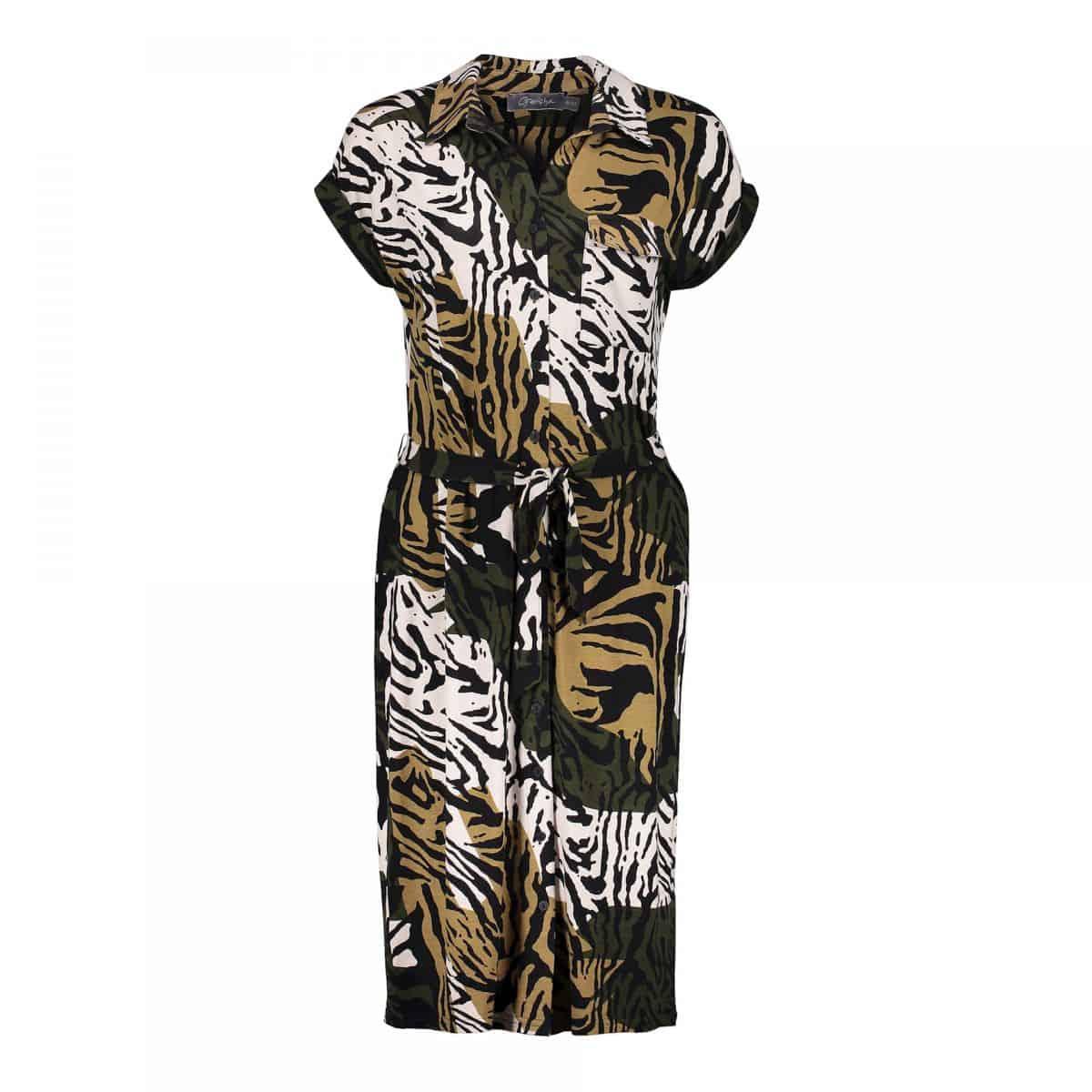 Geisha Dress Sand/Black Combi
