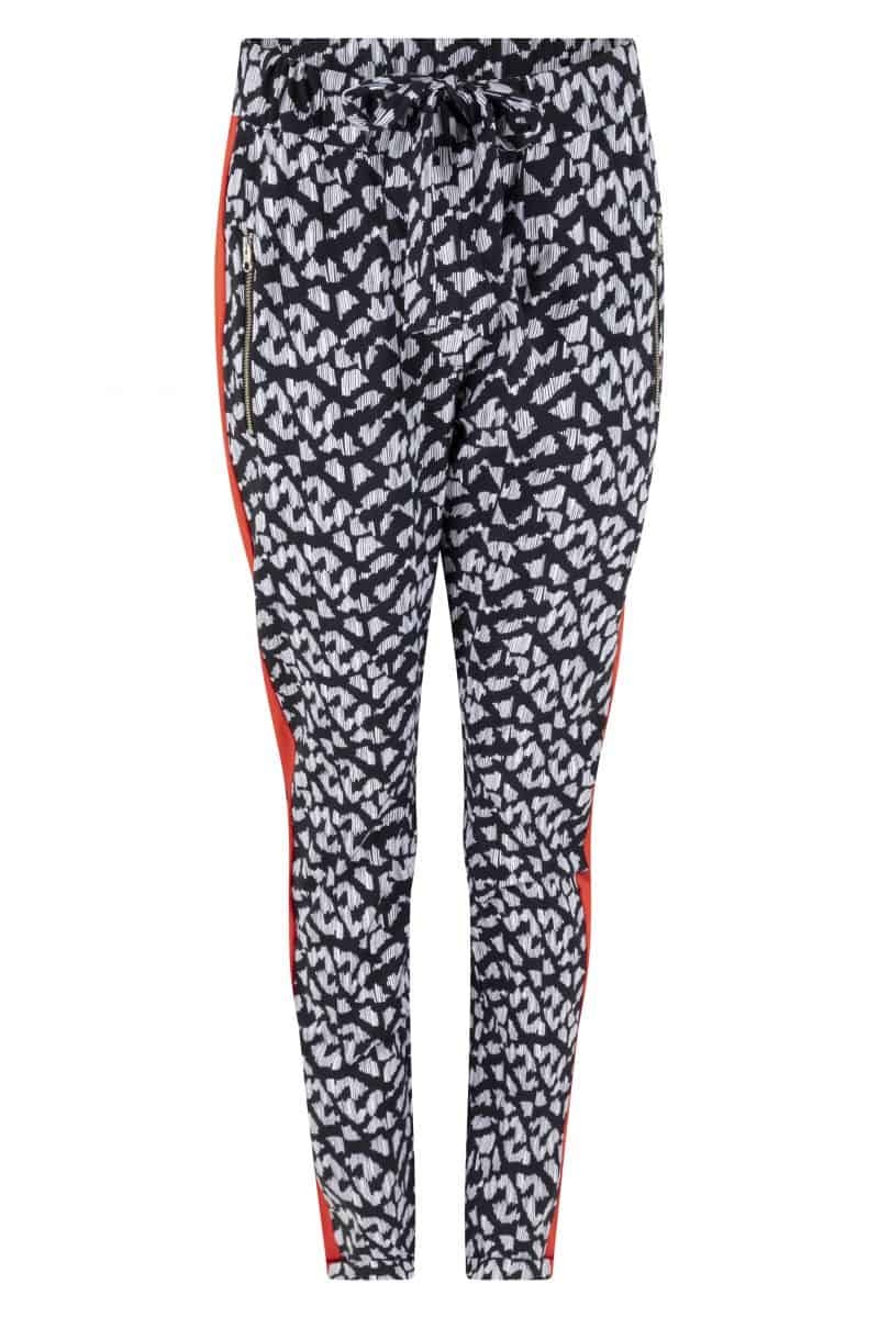Zoso Printed Travel Pants With Piping 213 Eva