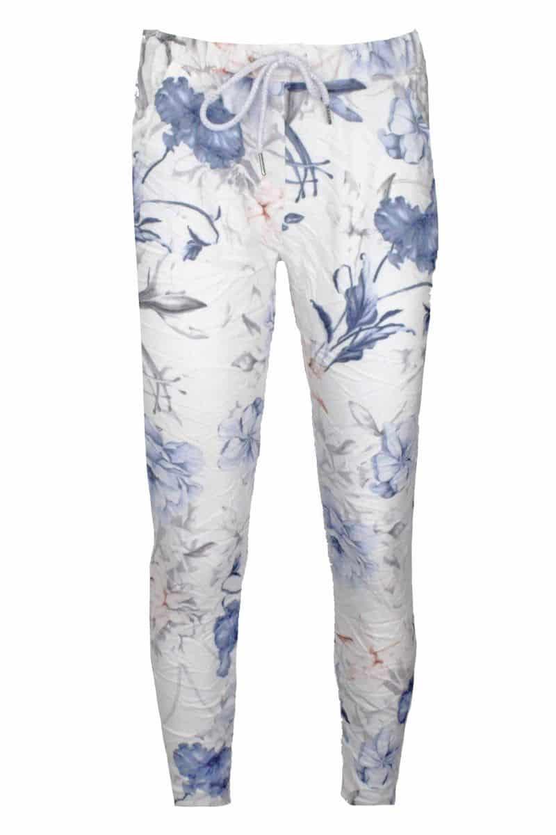 Comfy Broek Bloemenprint Blauw