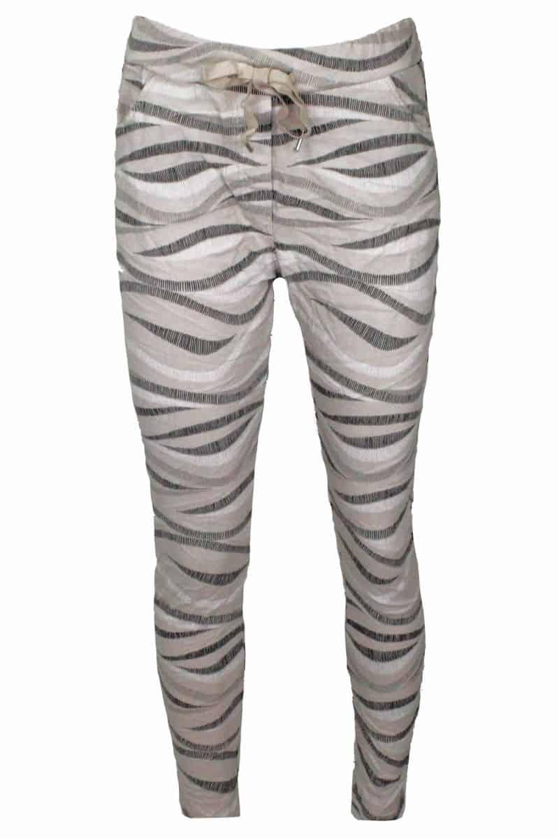 Comfy Broek Zebra Beige