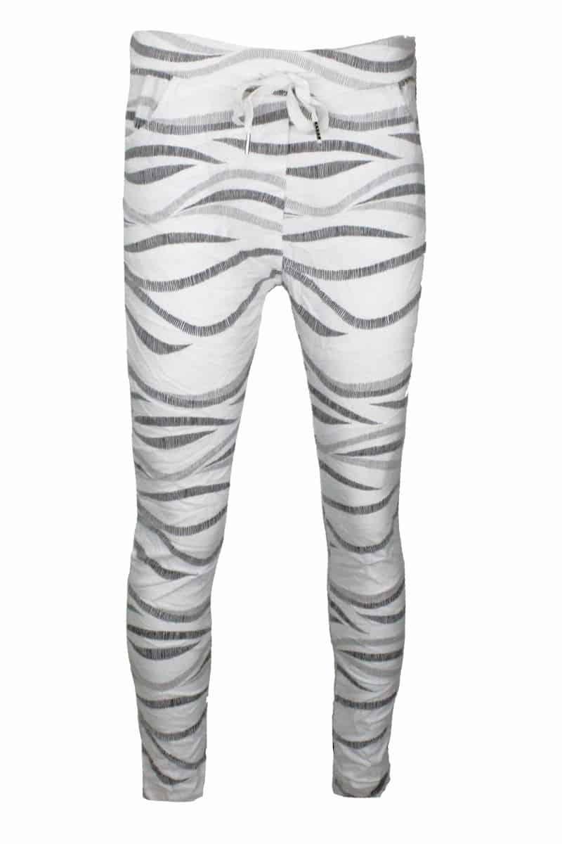 Comfy Broek Zebra Wit