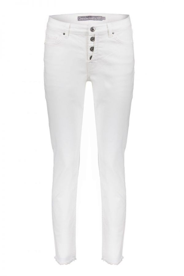 Geisha Pants With Button Closure White